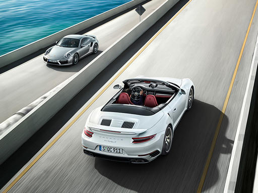 911 turbo coupe and cab